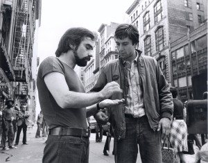Martin Scorsese e Robert De Niro sul set di Taxi Driver (courtesy of http://www.artribune.com)