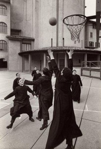 "Pepi Merisio, ""Basket in Seminario a Bergamo"", 1964 (courtesy of www.scenariomag.it)"