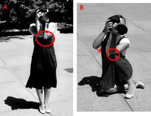 Foto n.2: l'importanza dell'impugnatura corretta (courtesy of http://digital-photography-school.com)