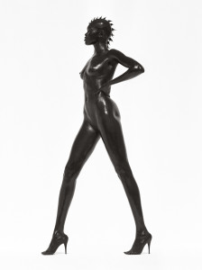Alek Wek, Los Angeles 1998. Foto di Herb Ritts (courtesy of http://media.artsblog.it)